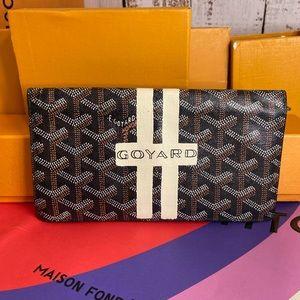 Goyard long wallet custom painted